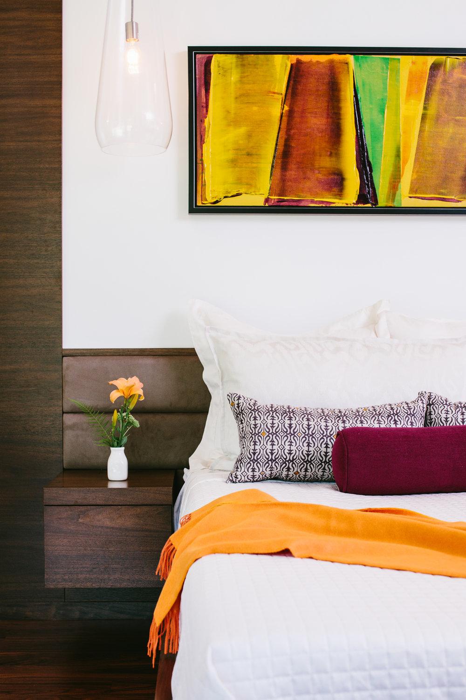 master bedroom modern vermont lakehouse
