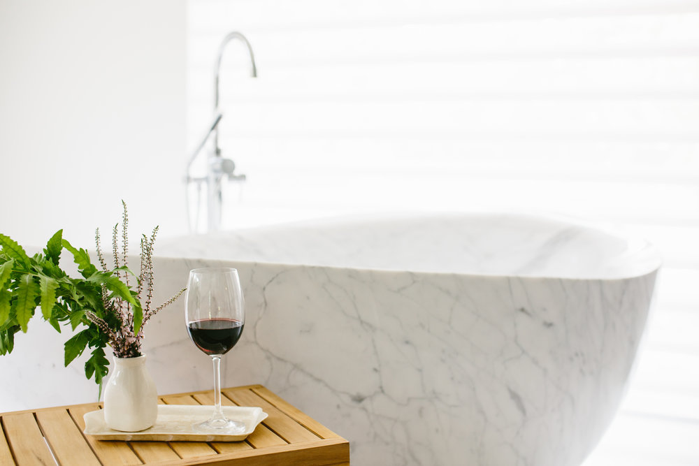 master bathroom tub modern lake house vermont