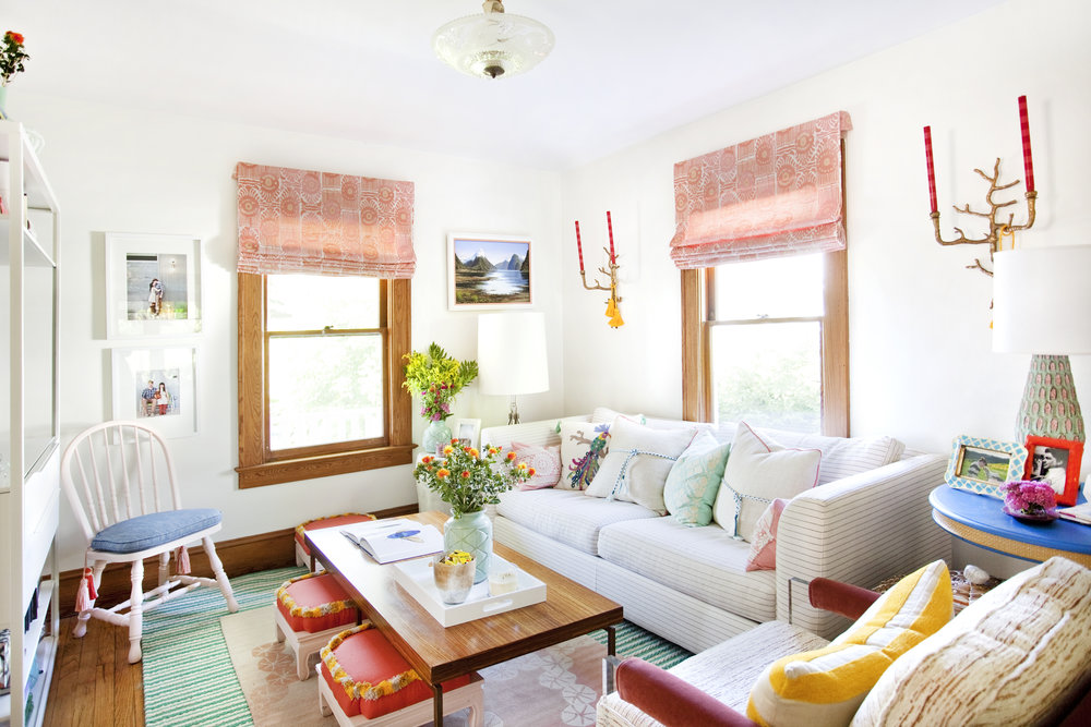 decorating with color in the living room