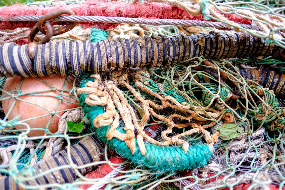 Like this tangled pile of fishing nets, you may get a little twisted up at times writing your book. Use your book description to stay focused.