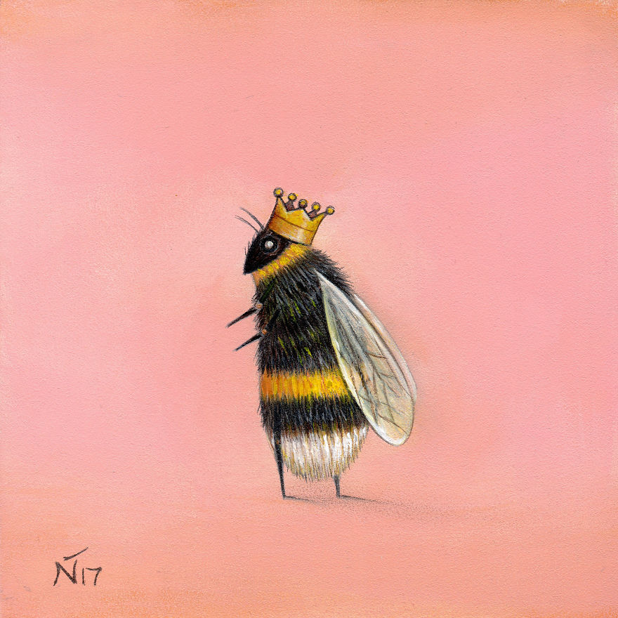 Queen Bee - Artwork by Neil Thompson