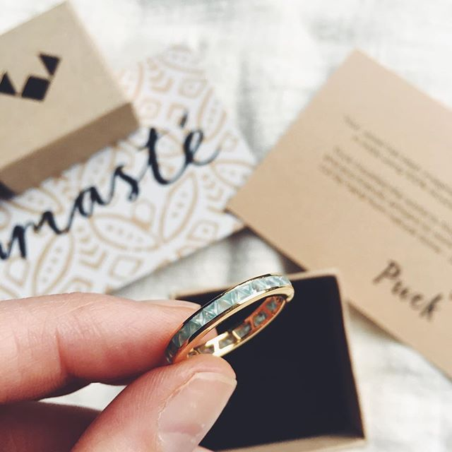 This was one of our happiest moments and so touched our hearts. ⠀⠀⠀⠀⠀⠀⠀⠀⠀ When a customer came up to us wearing this very ring on her wedding finger!! She had got married in it over the weekend!! 😌 ⠀⠀⠀⠀⠀⠀⠀⠀⠀ Was a bit much for a rainy Monday 😭(tears of joy) ⠀⠀⠀⠀⠀⠀⠀⠀⠀ #puckwanderlust #bringingpeopletogether👰🏻🤵🏽 #weddingbands #eternityring #bluechalcedony #18caratgold