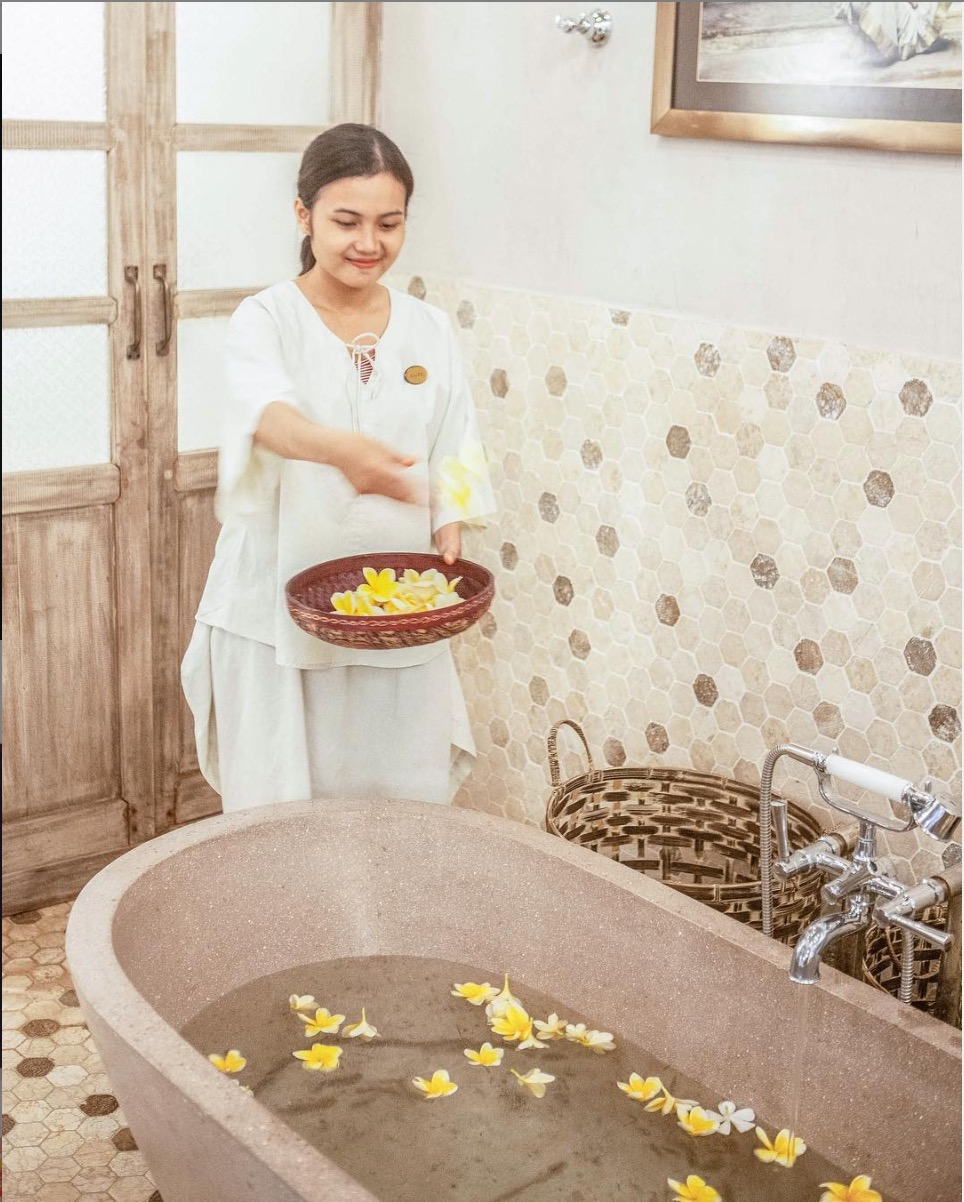 Flower bath made with Ylang Ylang in Bali