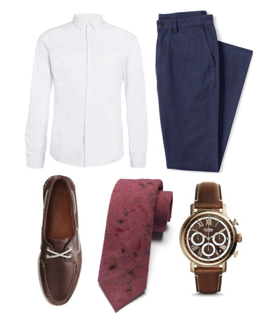 SHIRT: Topman // PANTS: Land's End // SHOES: Sperry's // WATCH: Fossil