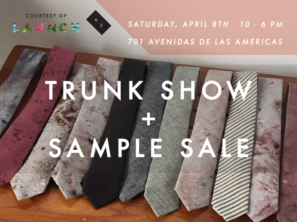 Kathrine Zeren trunk show + sample sale!