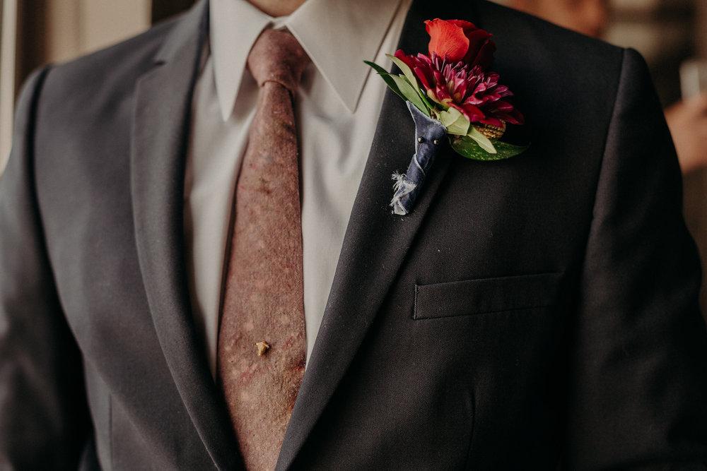 Speckled Mauve Neckties Kathrine Zeren Weddings Groom