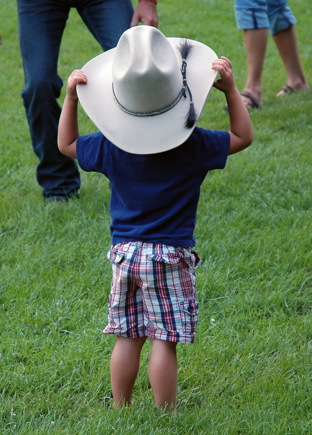 A Leatherwood cowboy on the Fourth of July