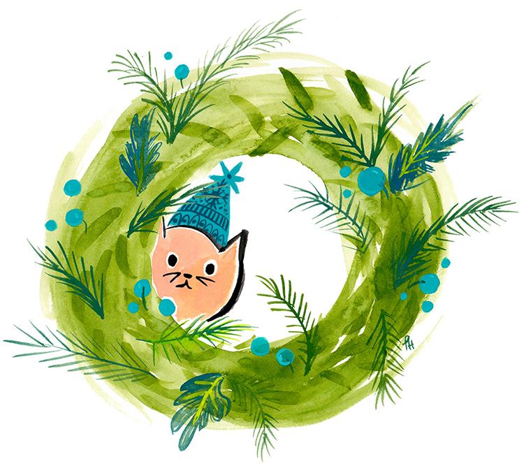 kitty wreath