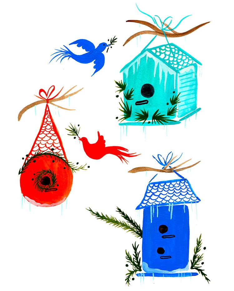 birdhouse garland
