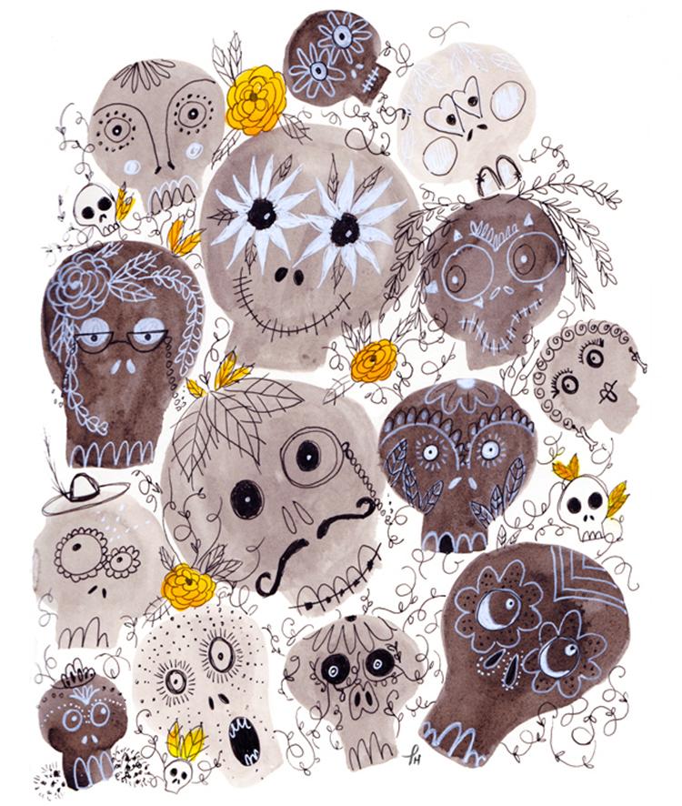 inktober sugar skulls