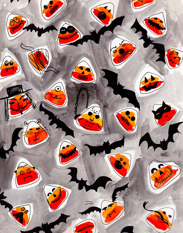 candy corn creatures