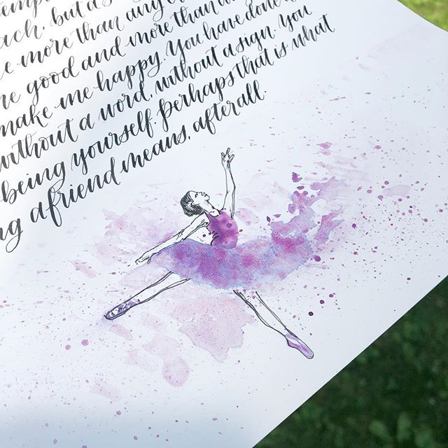 Something a little out of the ordinary... #letterdancing . . . #flourishforum #watercolor #moderncalligraphy #bostoncalligraphy