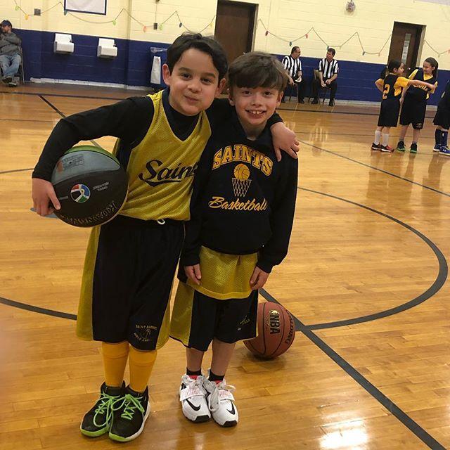 These two Buddies Matt and Luke will soon be the future Saints varsity squad!