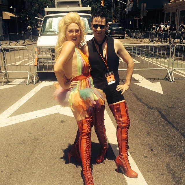 Gay Pride 2014 with  Brian Nash . © R  avi Roth .