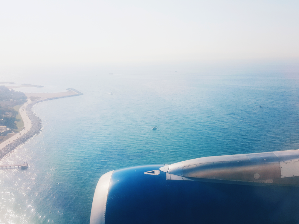 Flying into Ataturk Airport, off the Black Sea.