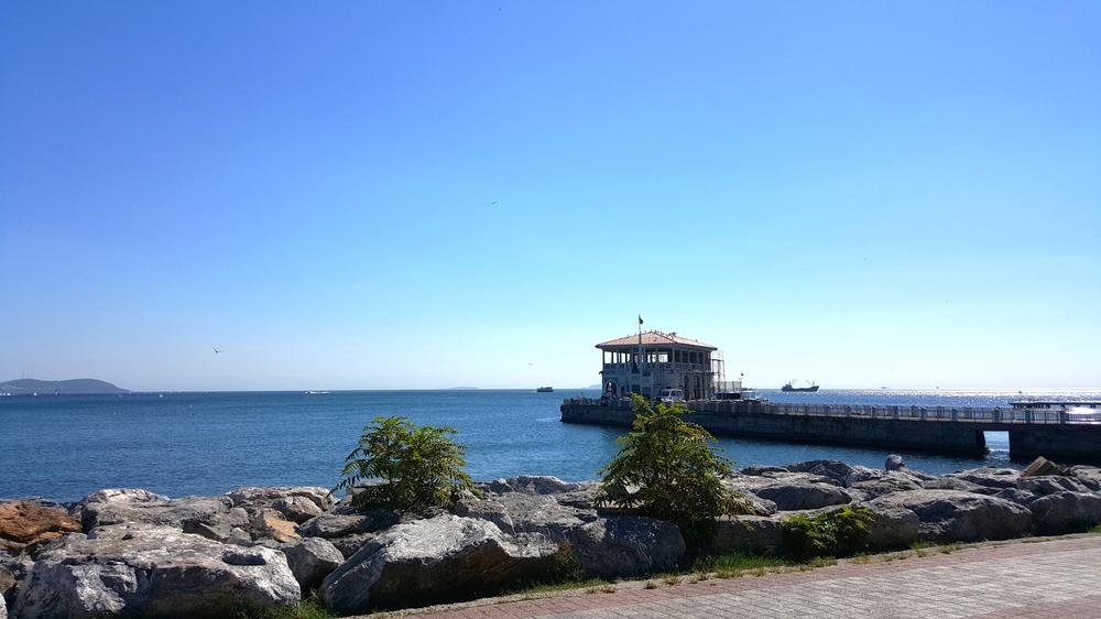 Moda Pier, overlooking the Sea of Marmara.