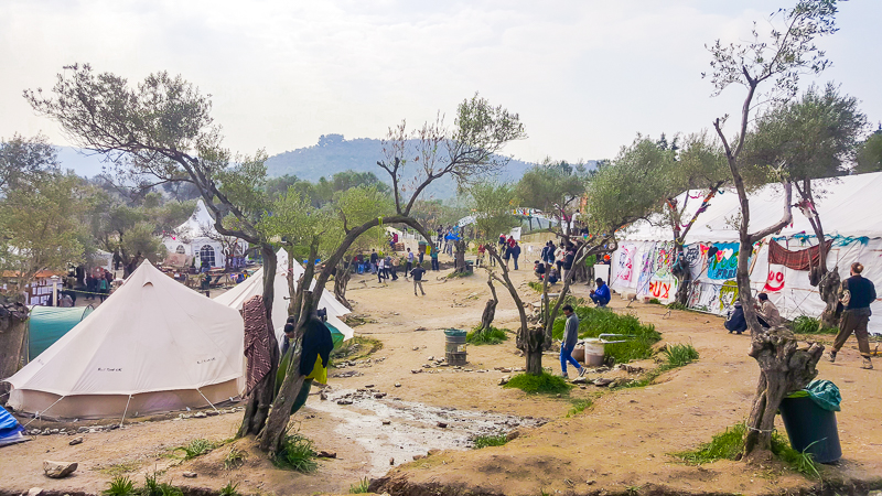Better Days for Moria refugee camp in the Olive Grove.