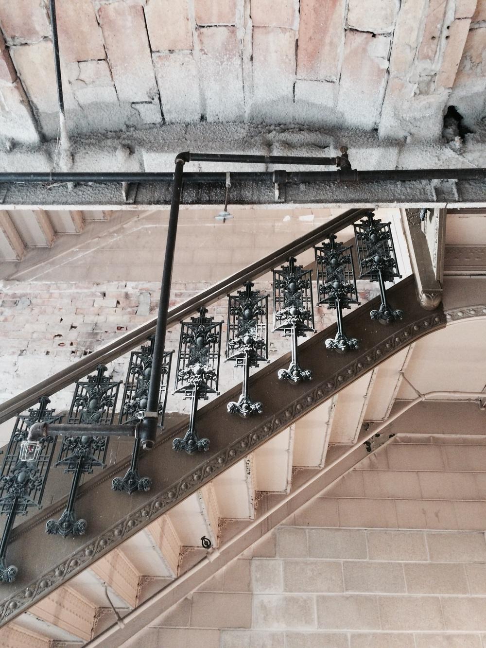 Hidden Sullivan stairwell.