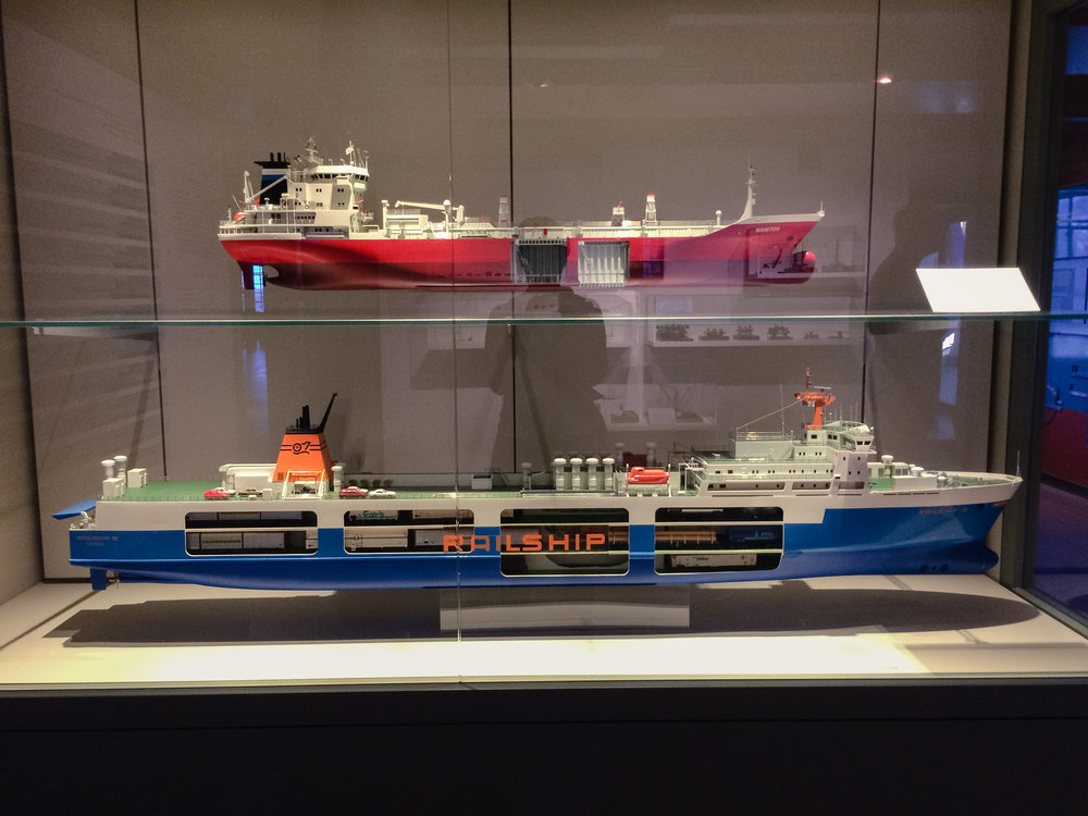 Contemporary models on display