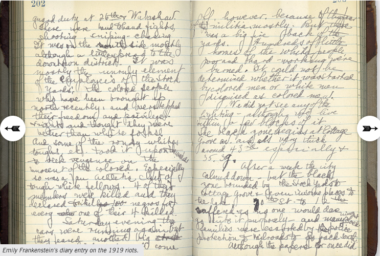 Screenshot of a sample archival manuscript from the archives and manuscript collection