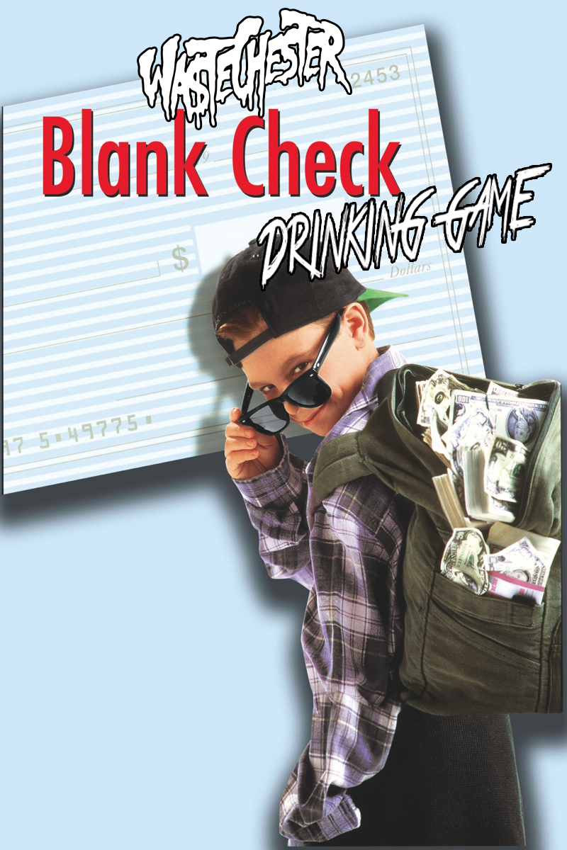 BLANK CHECK DRINKING GAME