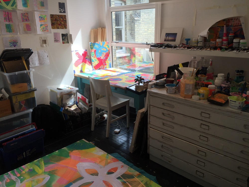 Love this space - The painting studio is getting BRIGHT!