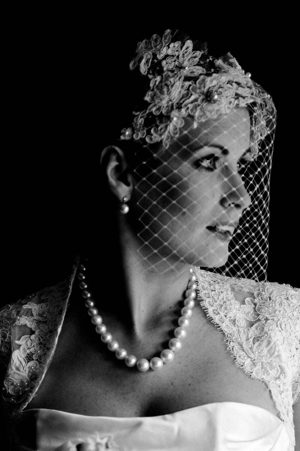 Celia in pearls