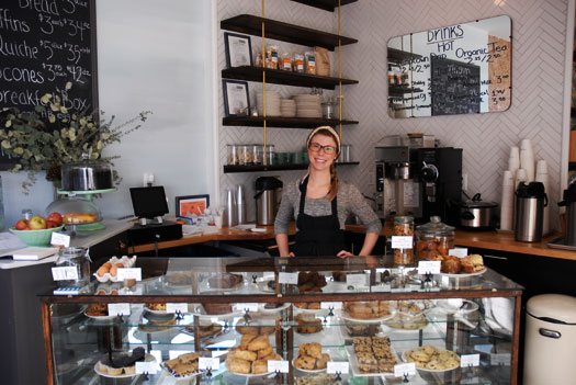 The pastry counter at Ovenly in Greenpoint