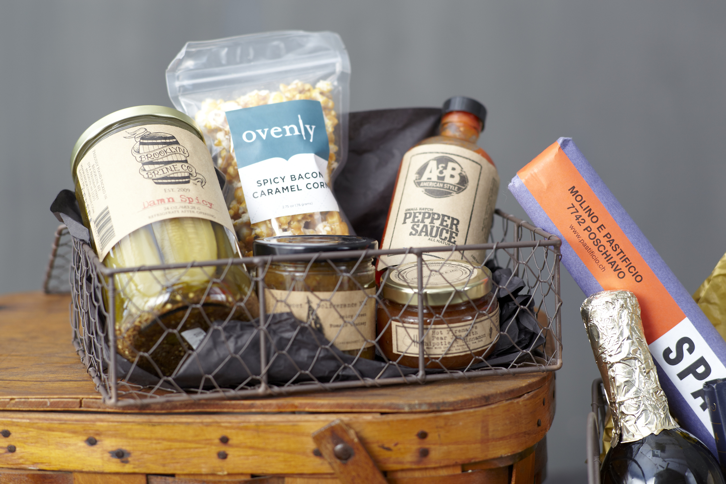 A spicy foodie gift basket from Brooklyn