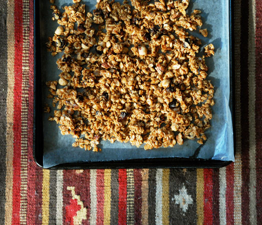 How to make a sweet and savory organic fig, olive oil, and sea salt granola