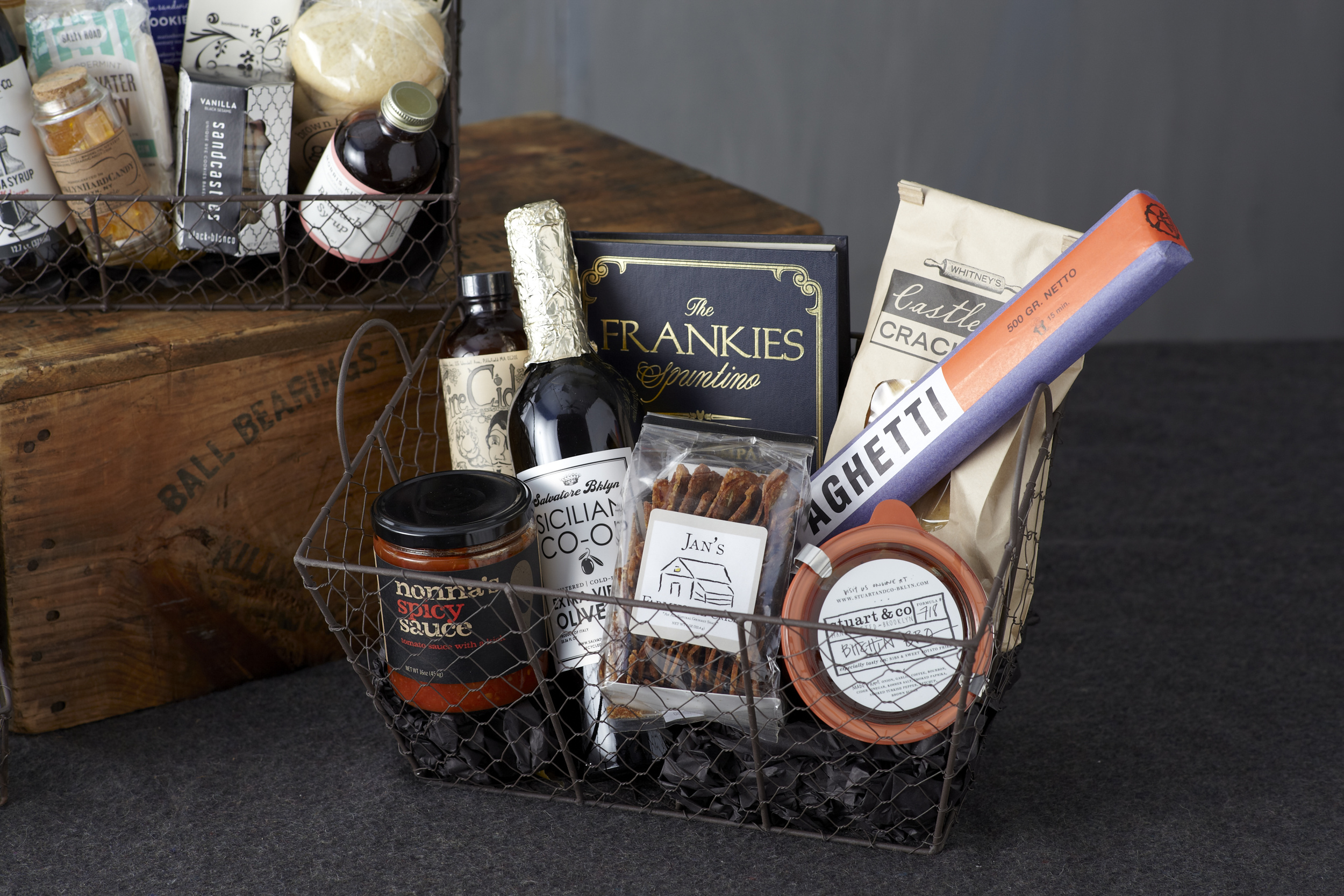 A brooklyn-made foodie gift basket