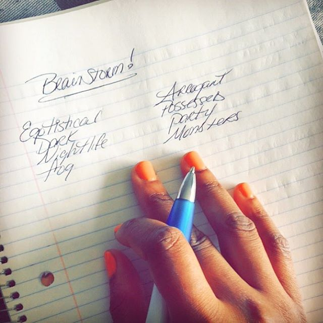 About to get into my zone! #songwriter #songwriting #brainstorming #indie #singer #pen #pad #nails #summer #opinailpolish #opi #creative #music #laidback #quality #boss #blackgirlsrock #blackgirlmagic #blackwomen #girlsrule #groove #party #partytime