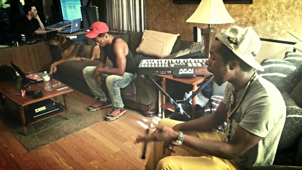 Chillin at a studio session with @__Seven__ Batmann ThirtyEight and Baltimore A MiddleastEnt