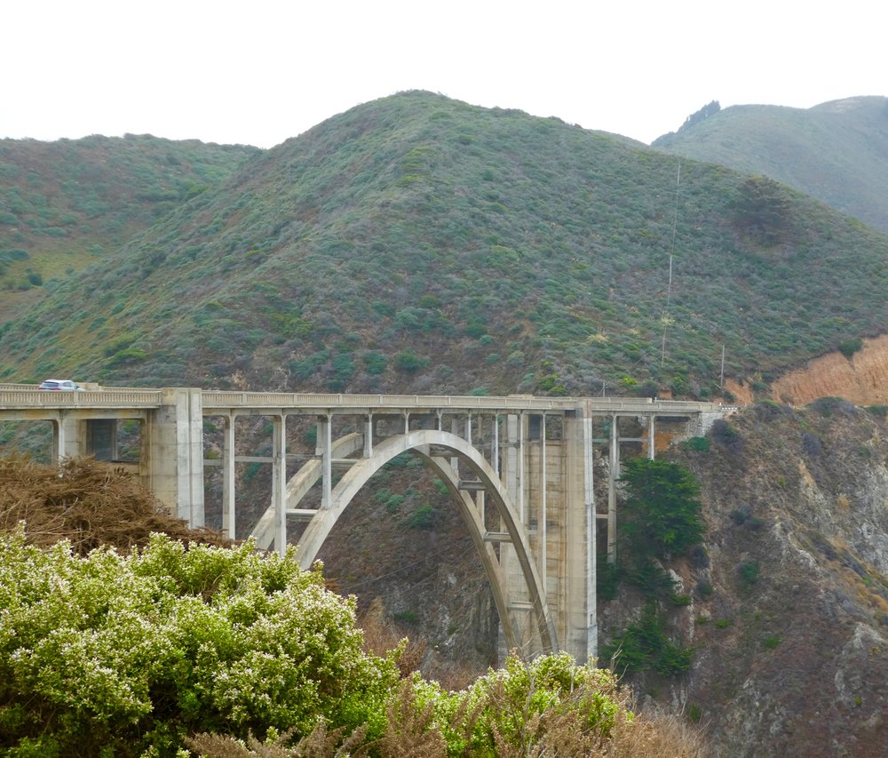 Crossing the Bixby Bridge on the Pacific Coast Highway (Route 1)