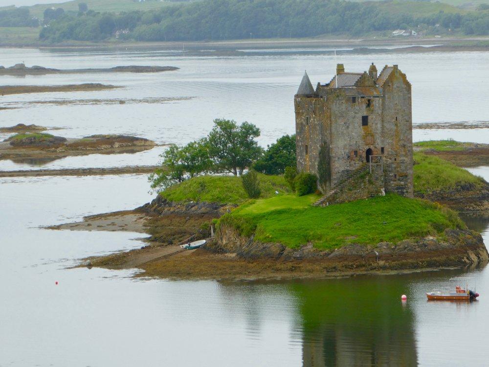 Castle Stalker on Loch Linnhe near Port Appin