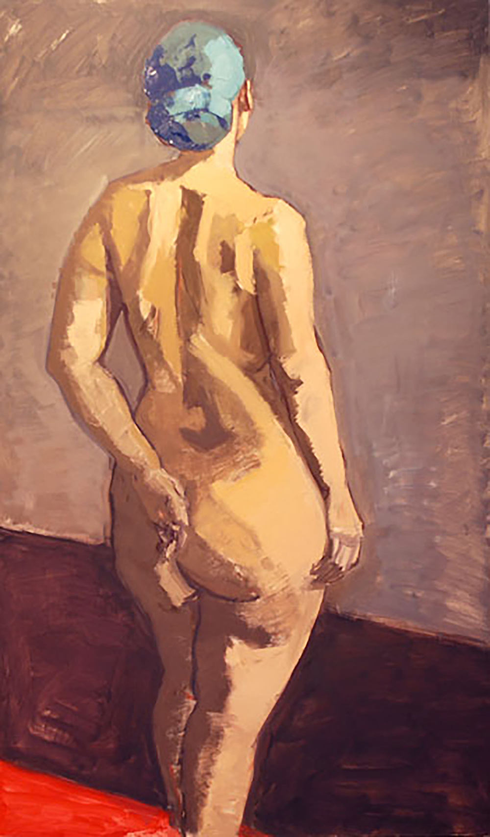 """Back of Nude with Headdress"""