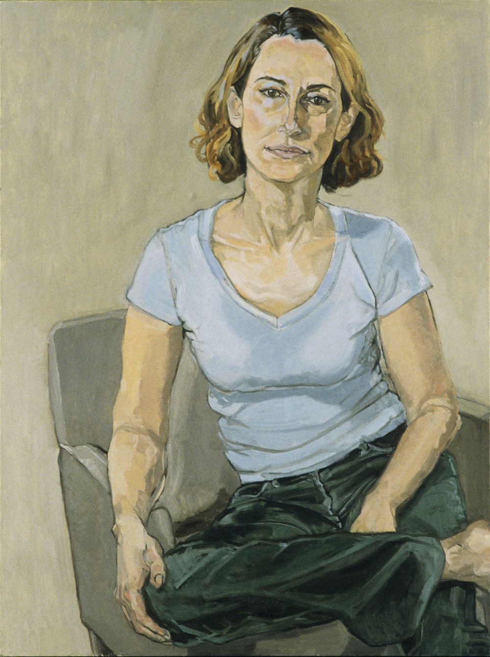 """Crossed-Legged Self Portrait"""
