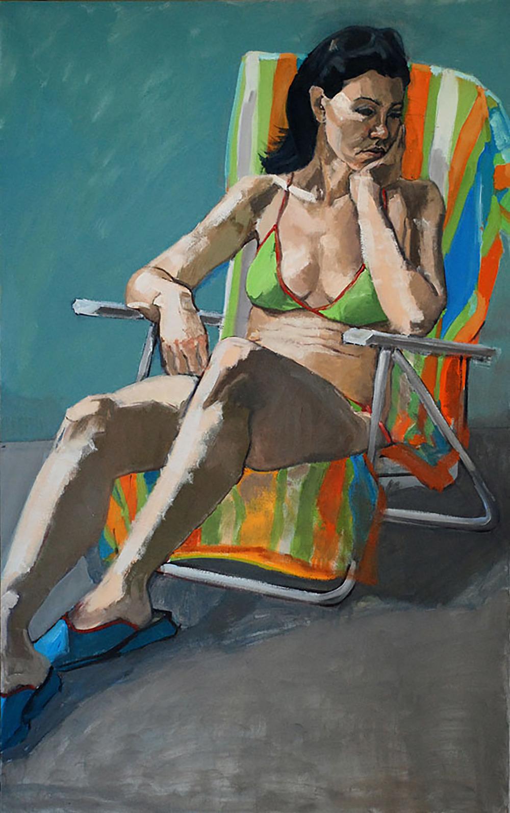"""Mia on a Beach Chair"""
