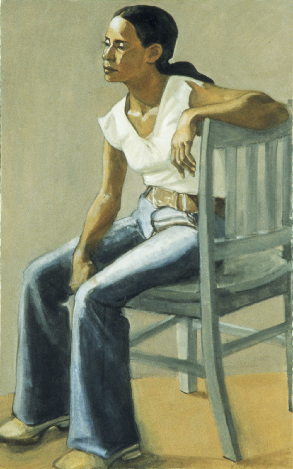 """Evelyn (Gray Chair)"""
