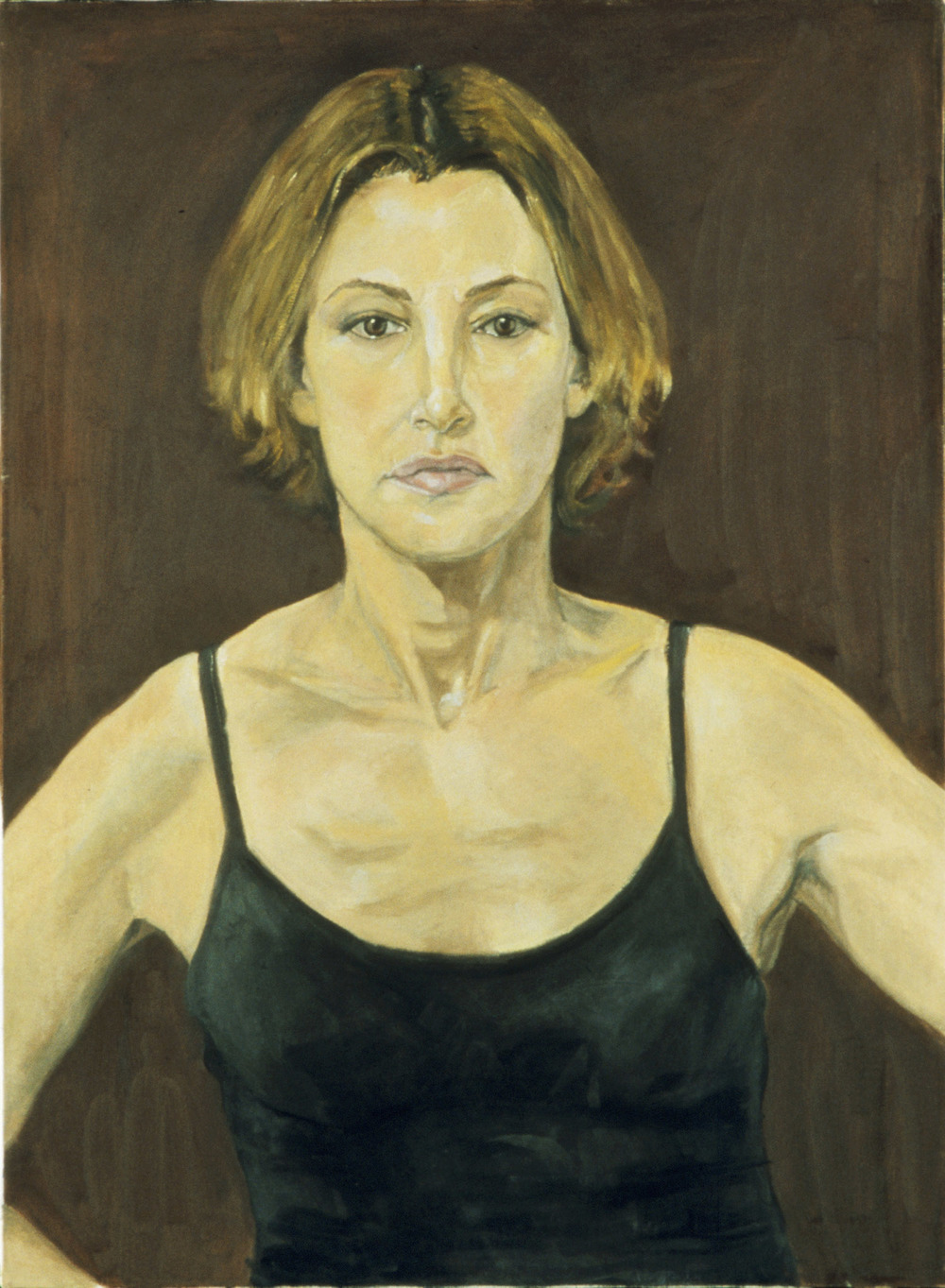 """Self portrait (Brown Background)"""