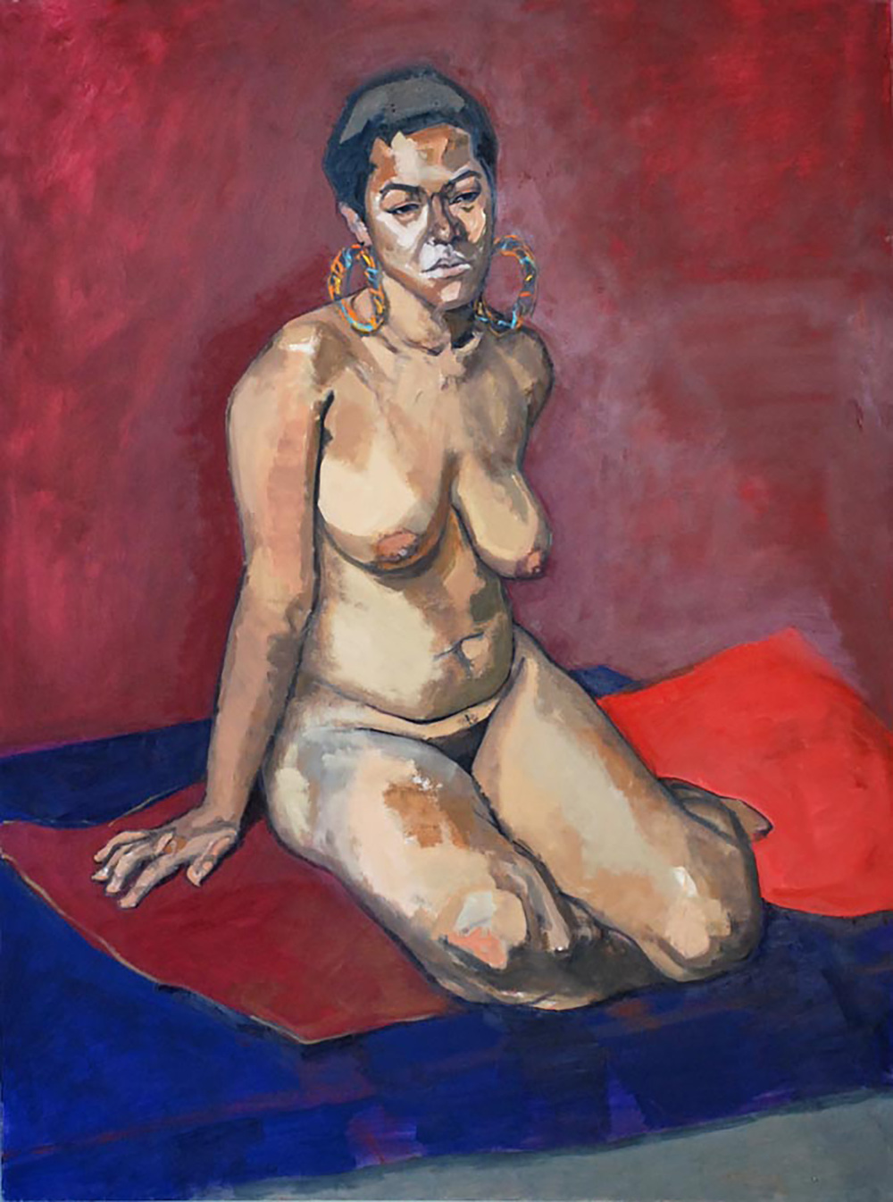 """Krista, Nude with Earrings"""
