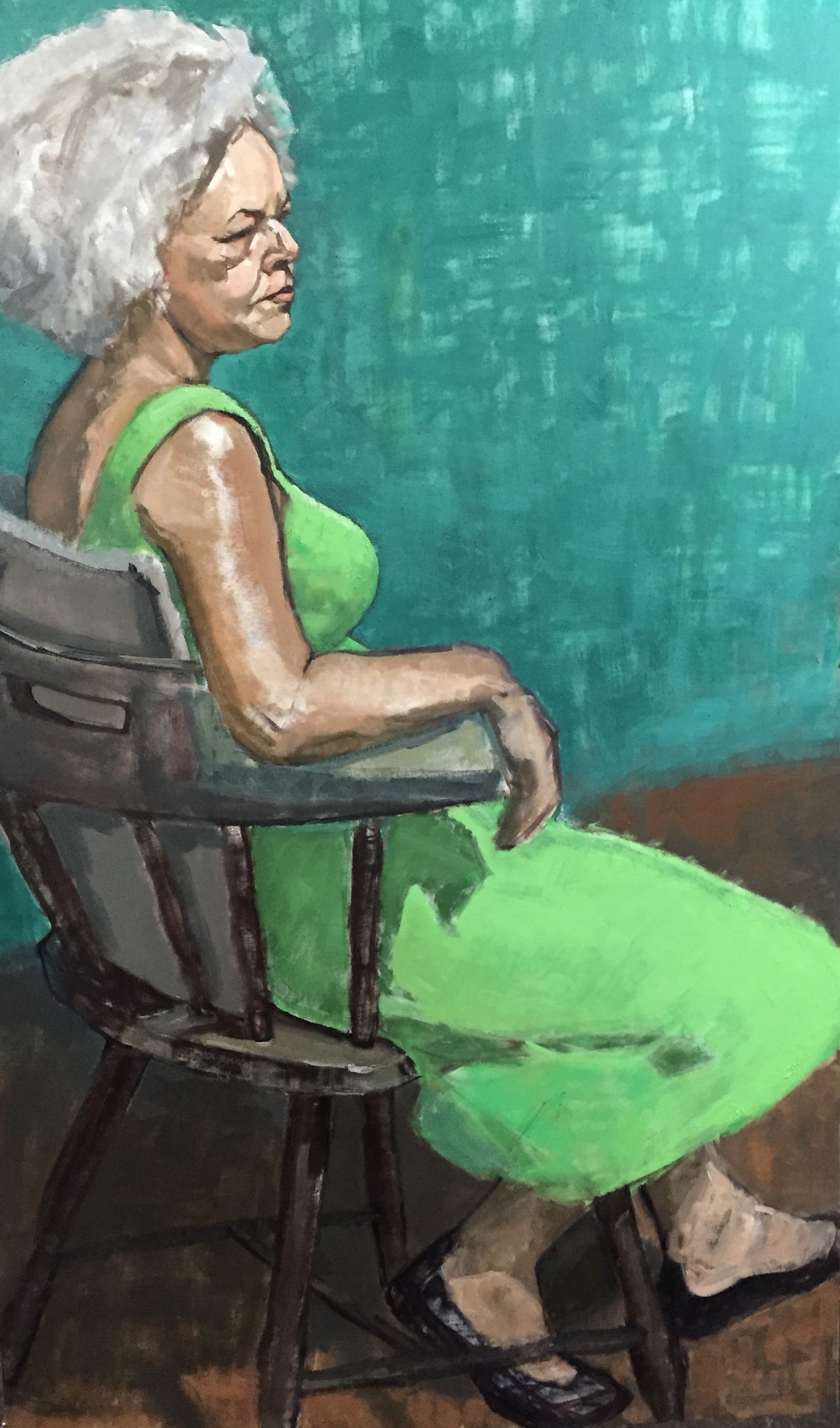 """Regina (Seated in Green)"""