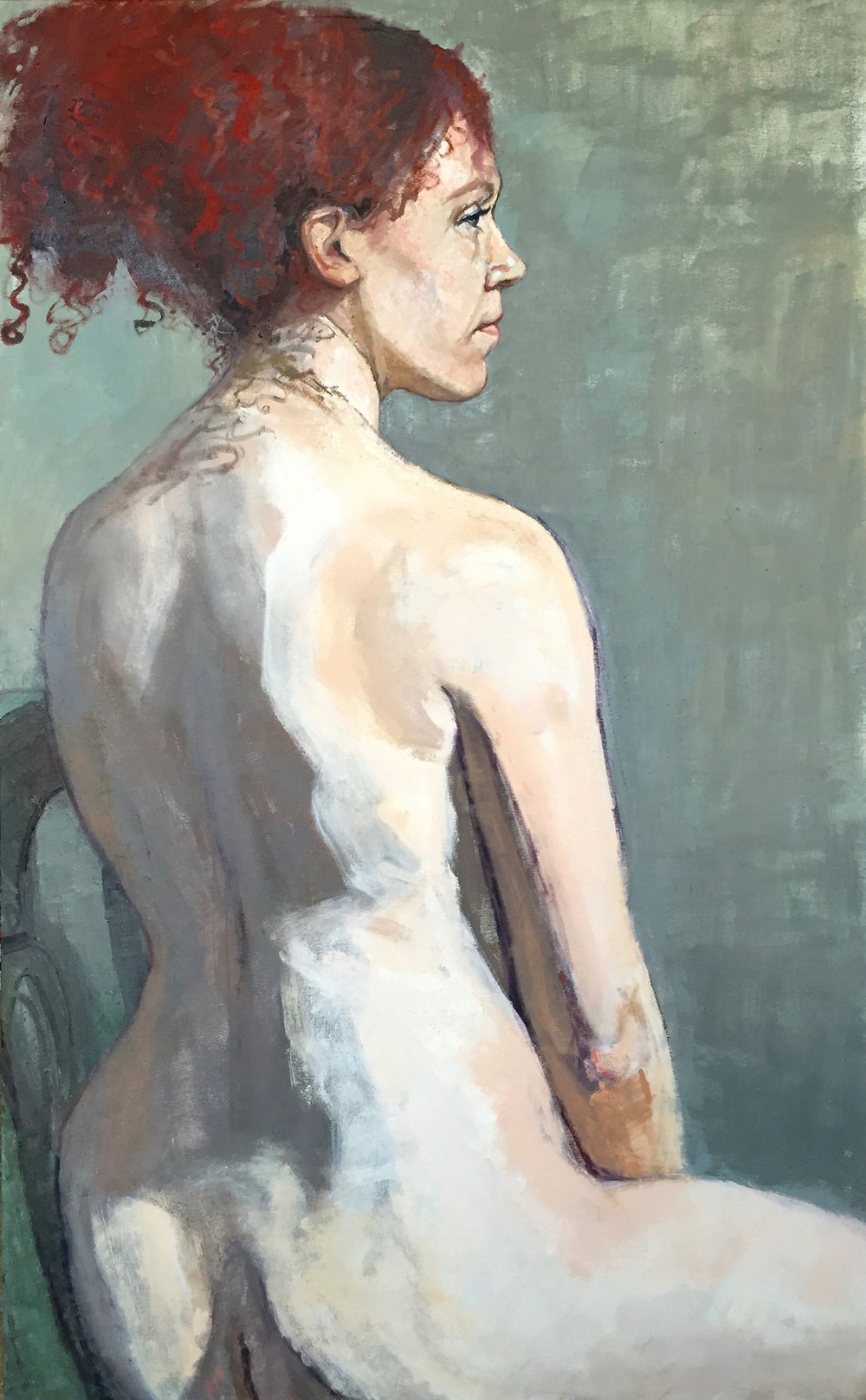 """Sarah Seated Nude"""