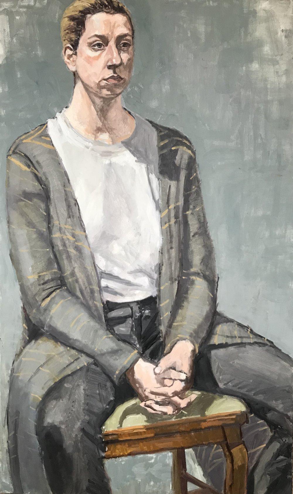 """Mckenzie Seated (Striped Sweater)"""