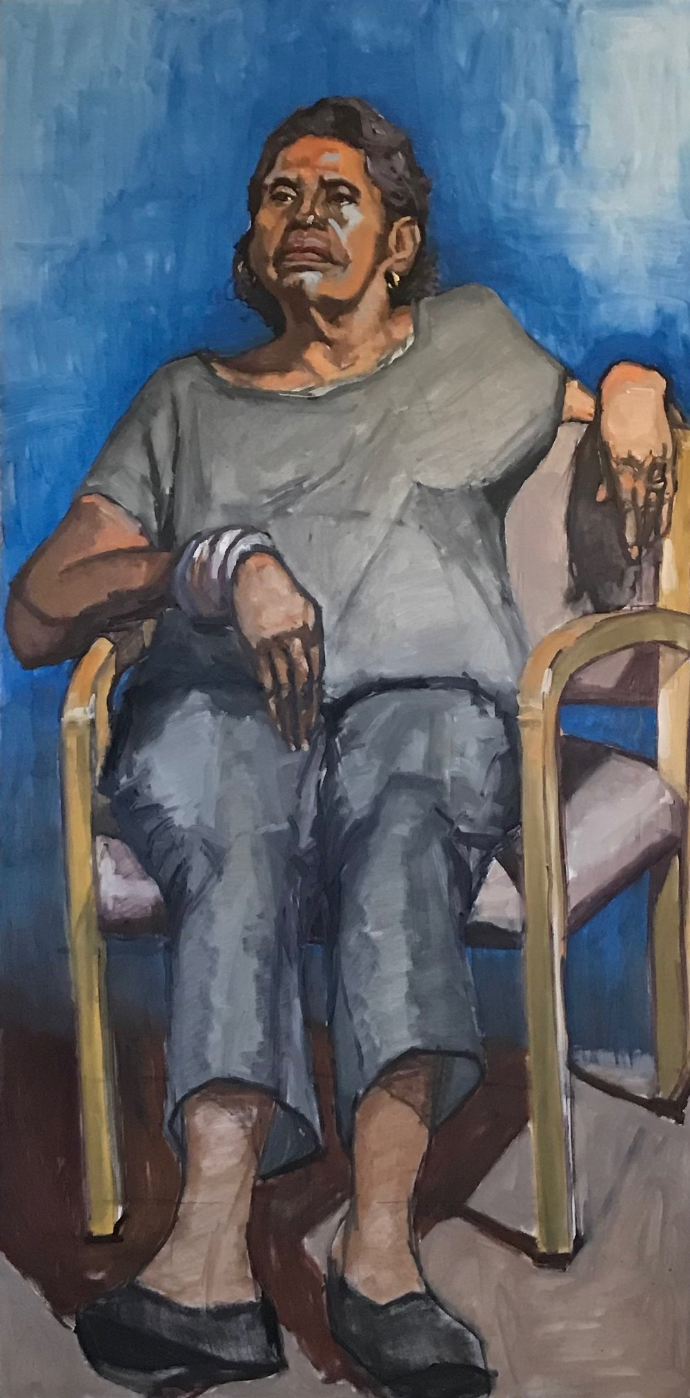 """""""Donna Seated in Blue"""""""
