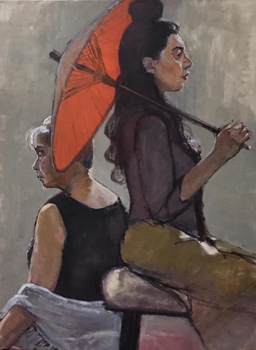 """""""Ella (Umbrella) with Kathy (Shawl)"""""""