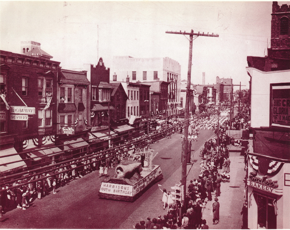 Town of Harrison's 100th Anniversary Parade down Harrison Avenue.  Picture taken from 3rd Street looking East on Harrison Avenue.