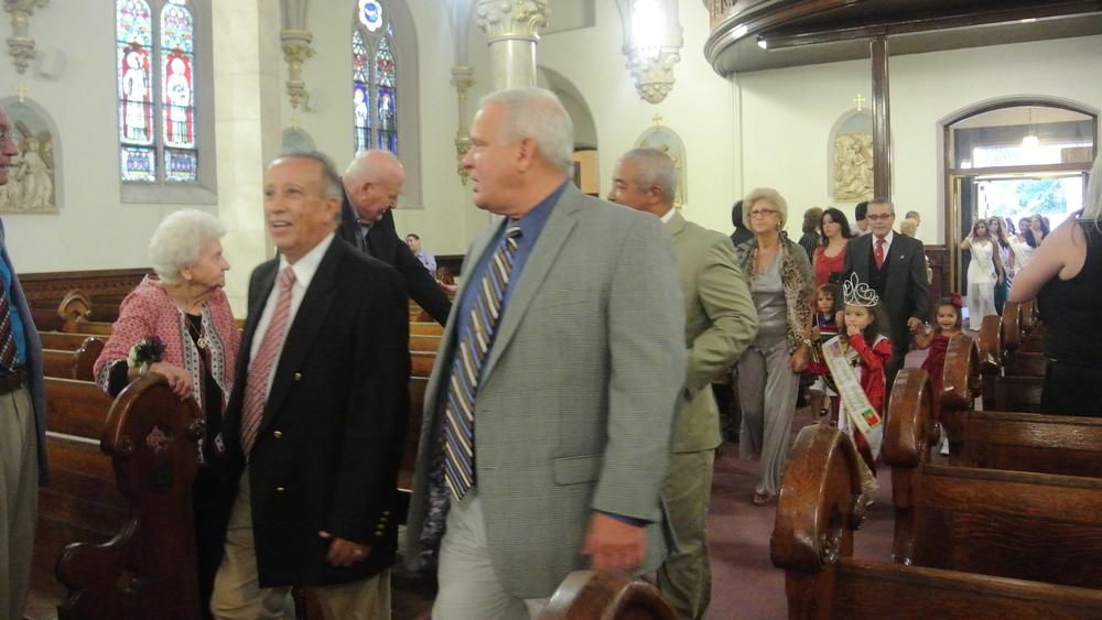 Councilman Francisco Nascimento and Councilman James Doran at Holy Cross Church Harrison NJ