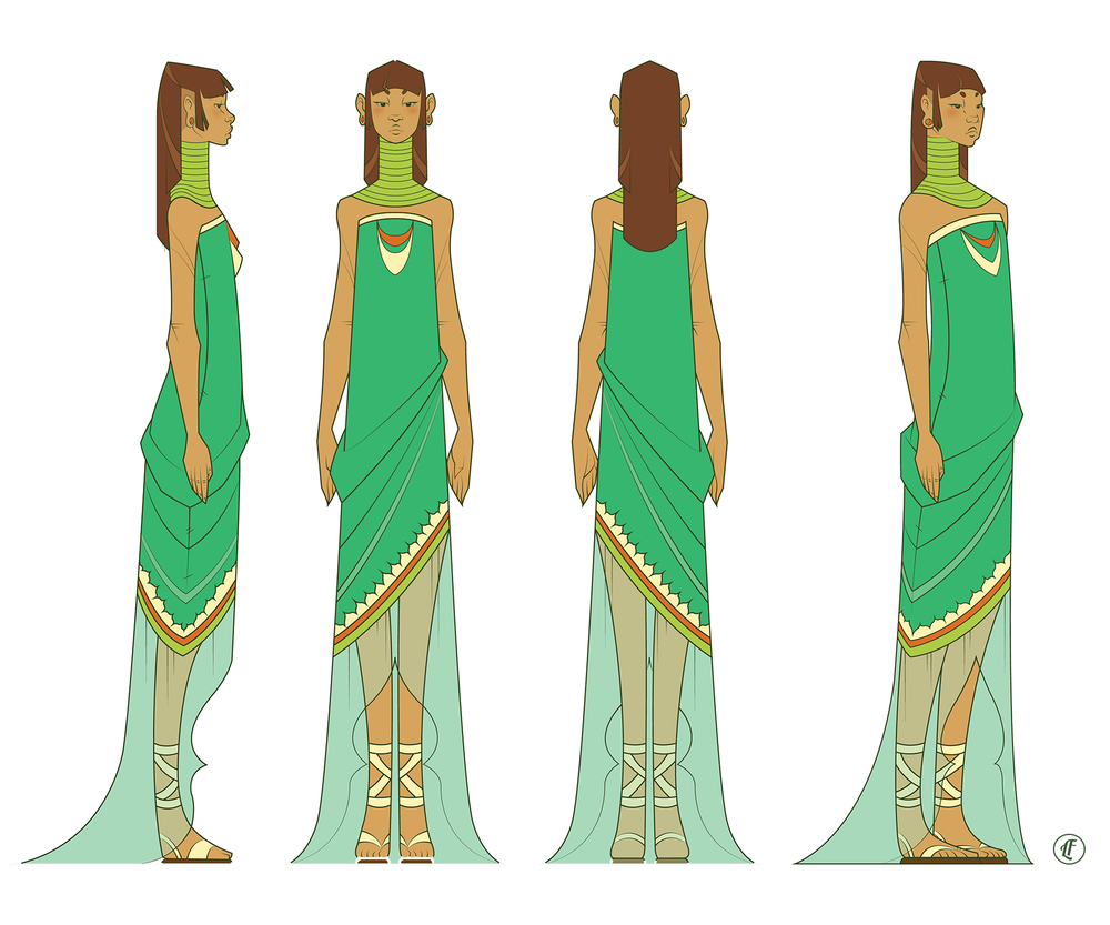 Character design for Princess Clio.