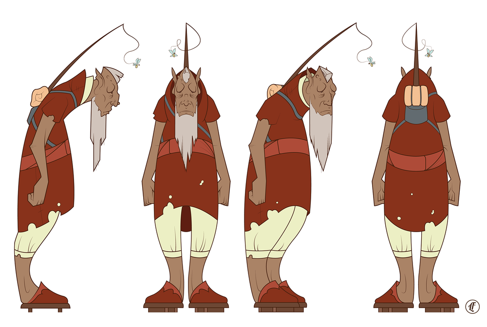 Character design for Loo the hermit.